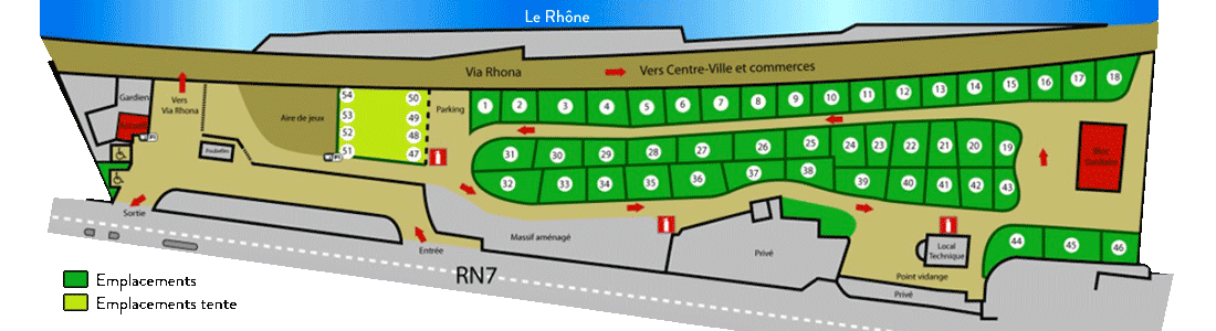 emplacements camping de tain